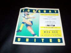 Torquay United v Chester City, 1991/92